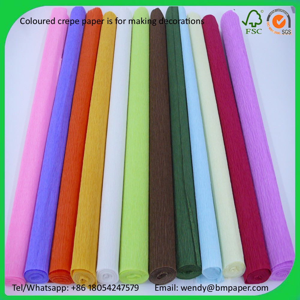 Colour crepe paper handmade diy paper 100 rolls of each for Diy colored paper