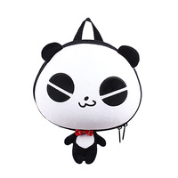 SUPERCUTE Wholesale kids 3D Plush Panda bear backpack, Animal panda school bag, cute school panda backpack