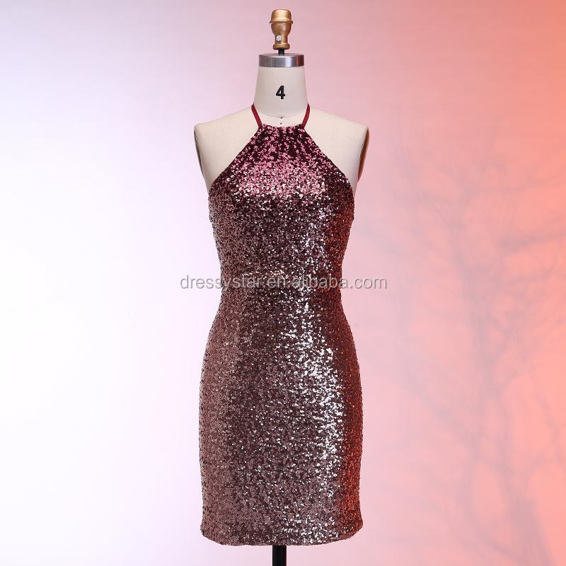 Venta al por mayor vestidos de fiesta cortos en color borgoña-Compre ...