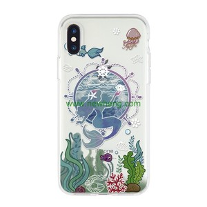 Customized Creative Cartoon Art printing Clear tpu phone case for iphone Xs
