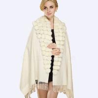 CX-B-P-68B Wholesale Cheap Knitted Cashmere Winter Scarf Shawl