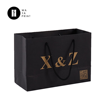 Factory custom your own Logo black Packaging Paper Bag