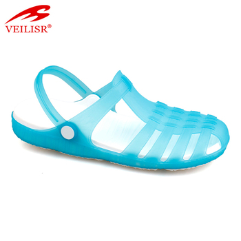 8bab5f0fa494 New Style Ladies Beach Jelly Shoes Clear Pvc Clogs Women Sandals ...