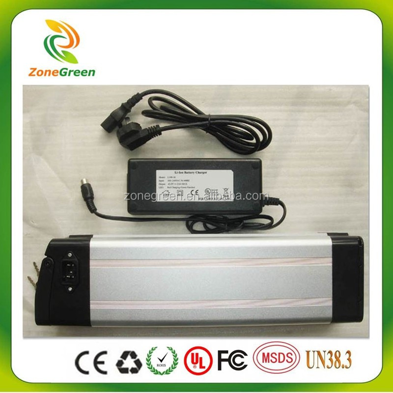 12v 24v 36v 48v lithium ion battery silver fish for ebike electric bicycle