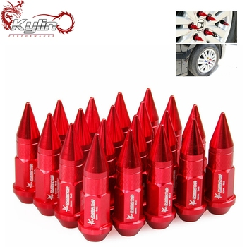 Ryanstar 50MM M12x1.5 Aluminum Colored car lug nut Spike wheel nut