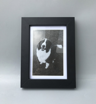 "Black photo frame, MDF picture frame, Mat frame display 5x7"" or 4x6"" photo"