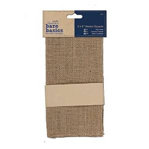 docrafts Papermania Bare Basics Hessian Squares, 8 by 8-Inch, 5-Pack by docrafts
