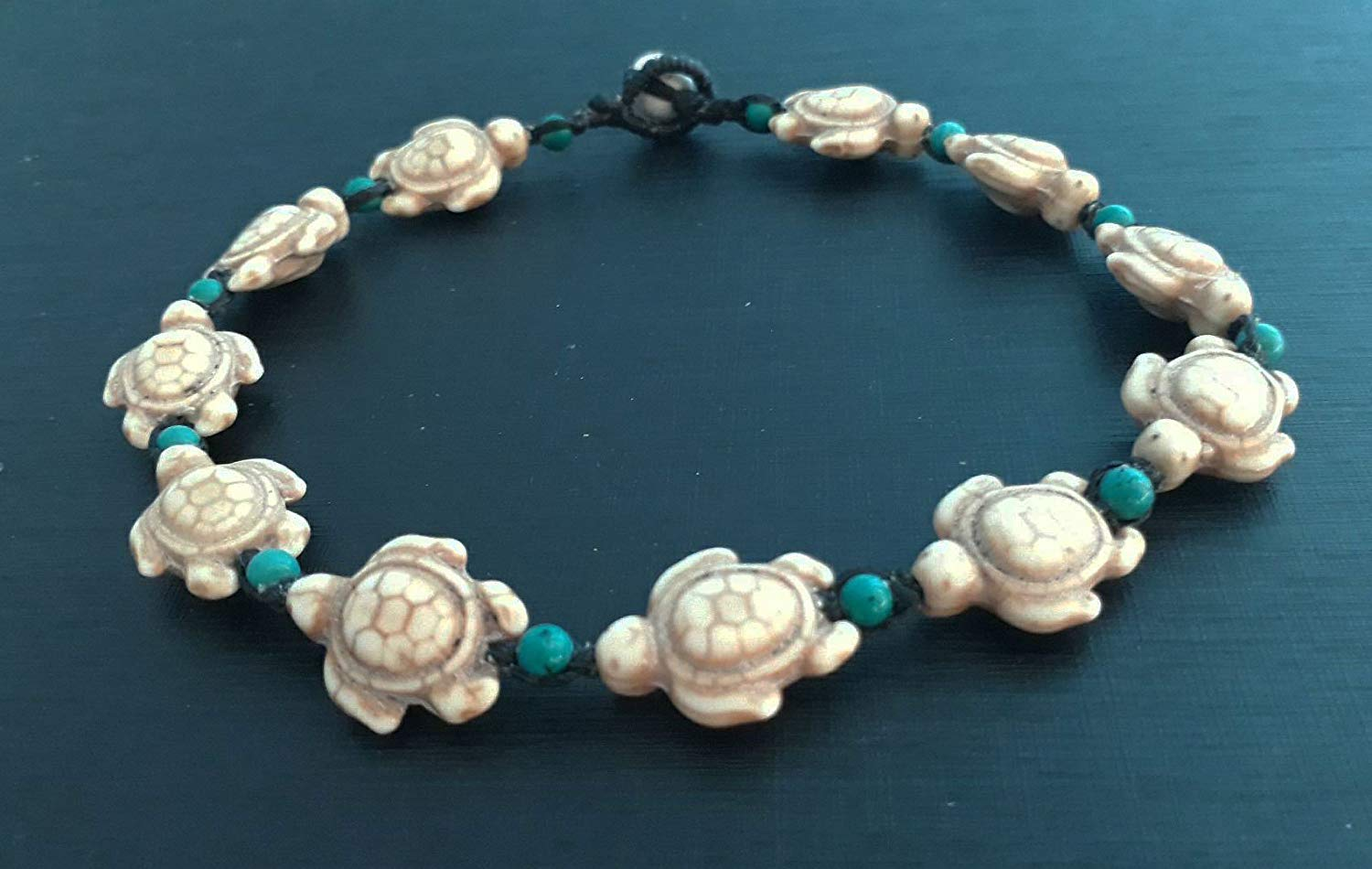 Howlite turtle anklets,stone anklets turquoise anklets men anklets women anklets