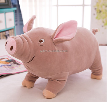 Free Sample custom plush pig animal products/ Plush real looking stuffed pig animal toy