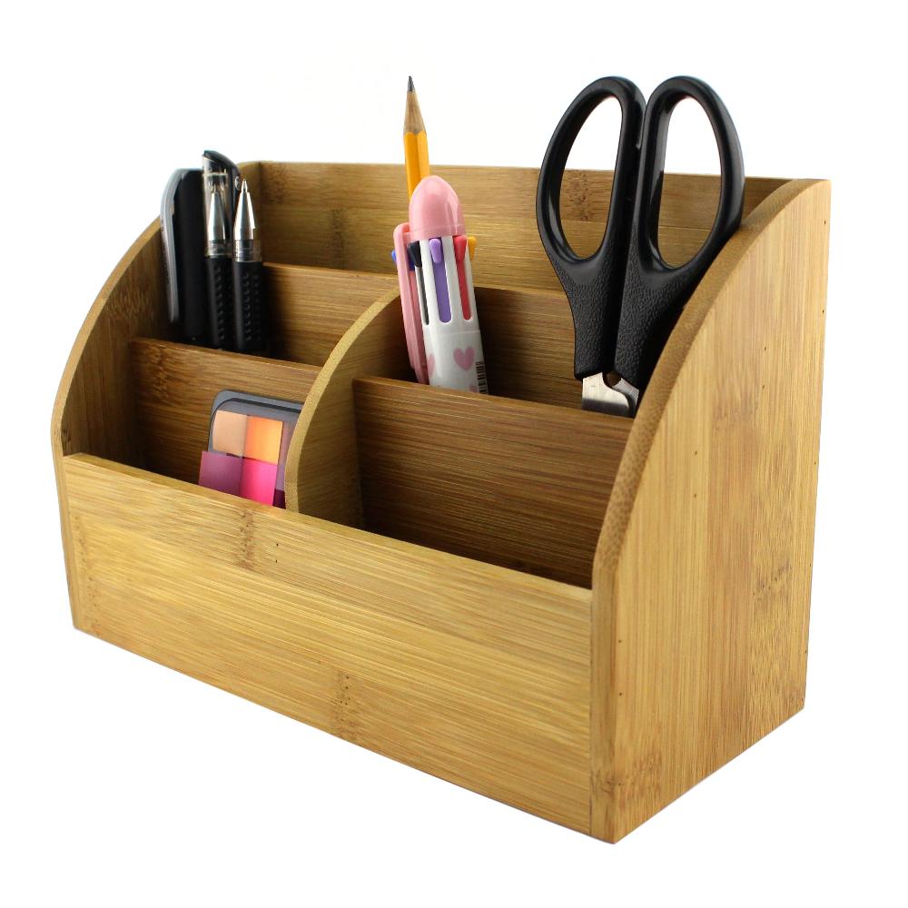 bamboe bureau organizer met pen houder mail organizer homex fsc bsci fabriek bureau set product. Black Bedroom Furniture Sets. Home Design Ideas