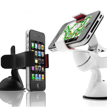 360 Degree Rotation Car Windshield Mount Mobile Phone Holder Bracket Stand For Galaxy S6 S5 S4 Note 4 3 iPhone 6 5 4 GPS