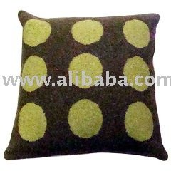 Cushion Covers Polka Dots Woolen Jacquard Cushion Cover