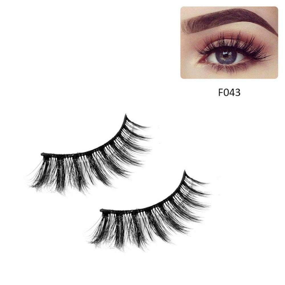0223c24425e Get Quotations · 3D Mink Eyelashes, Leegoal Dramatic Makeup Premium Strip  Eyelashes, 100% Natural Soft Mink