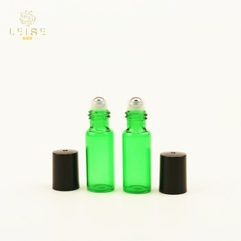 5ml 10ml 15ml 20ml 30ml 50ml 100ml amber round roll on glass bottle with glass/stainless steel roller