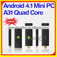 Google Android 4.4 Quad Core 1.6GHz ARM A7 DDR3 2G black box internet tv receiver