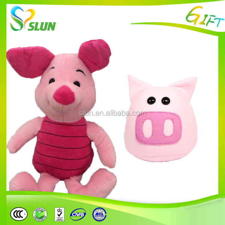 kids's small toys the five little pigs tale plush finger pink puppet 5 in 1 set doll