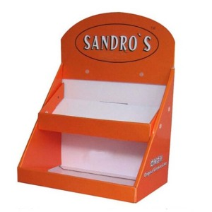 Multifunctional Recycled Materials Corrugated Advertising Cardboard Counter Display Box