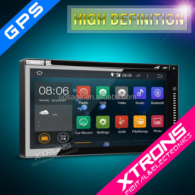 Xtrons High End 6.95inch Perfect Fitting 2din Android 4.4.4 Quad-Core whole Multi-touch1080P Video WiFi Double Din Car TD696A