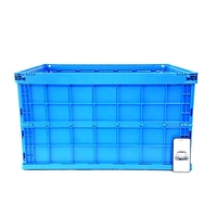 Made in china stackable foldable plastic moving box with lid for sale