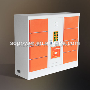 10 door coin operated cell phone charging station cell phone charging station lockers / phone charging station cabine