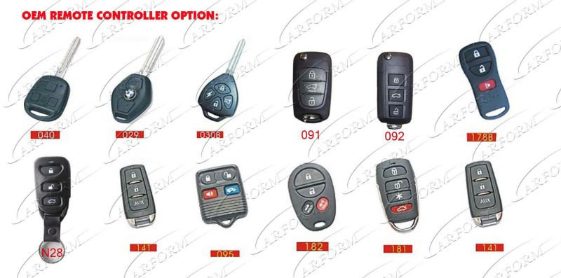Universal Car Remote Central Door Locking System With Positive And