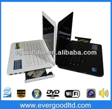 Wholesale Price 13.3inch L600 Laptop with DVD Burner Intel Atom N2600 1.86GHz Dual Core (1G RAM,160G HDD)WiFi+Camera