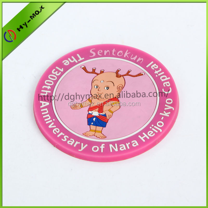 pink cute picture customized coaster