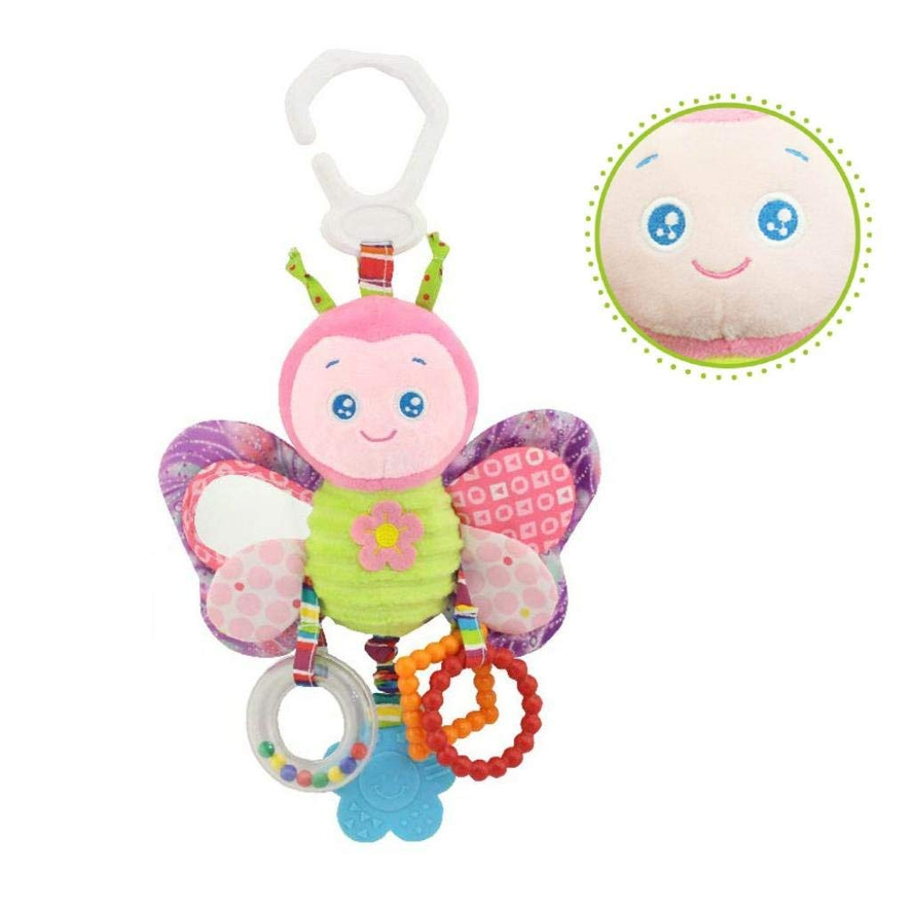 Baby Hanging Rattle Toys, Iuhan Baby Toys Soft Hanging Rattle Toy Infant Stroller Car Seat Crib Cute Bed Bell Travel Activity Plush Animal Wind Chime for Boys Girls (A)