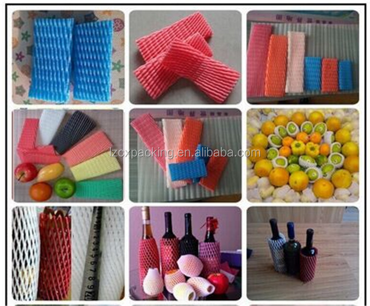 good price plastic sleeve for fruit pe foam net