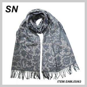 100%Acrylic knitted winter scarf muffler