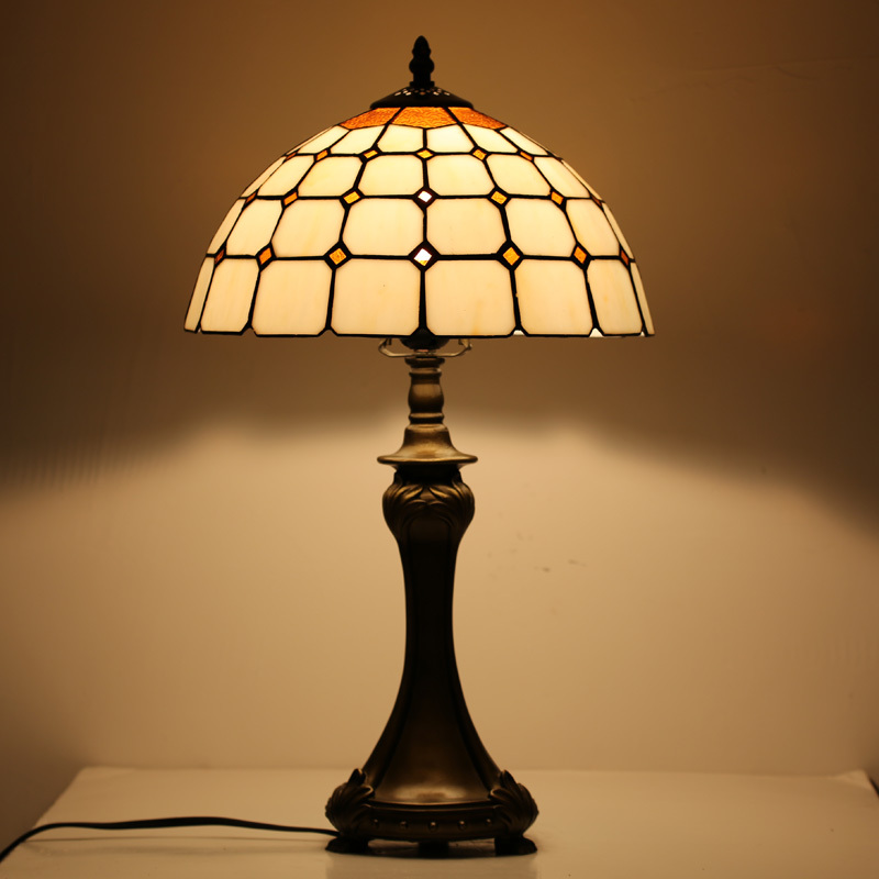 Hot Sale Wholesale Vintage Stained Glass Table Lamp For