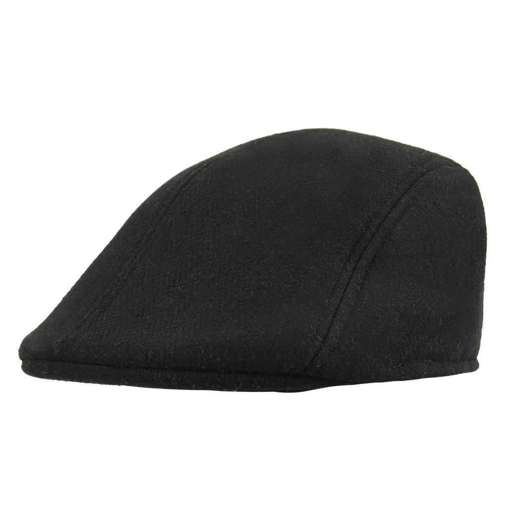 2759477fcf0 Get Quotations · Men Women Classic Herringbone Tweed Flat Caps Baker Boy Newsboy  Ivy Caps Cabbie Driver Peaked Hunting