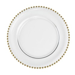 China Supplier gold charger plates plastic wholesale wedding decorative