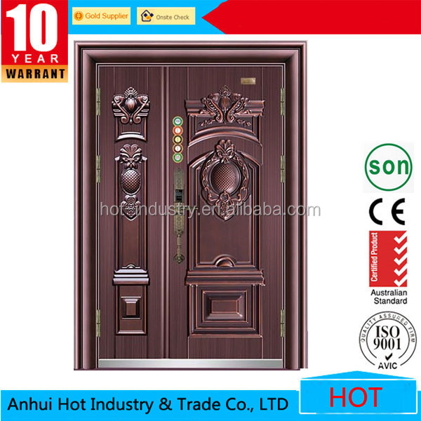 Main Entrance Steel Design One And Half Door Exterior Wood Mom Son