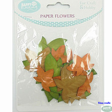 Autumn Paper Leaves Die Cut Mixed Size Paper Artificial Flower Petal For Diy Decoration