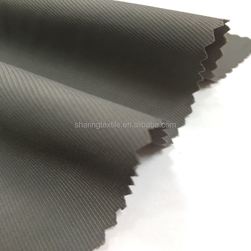 Wholesale 1/2 Or 1/3 Twill 150D*100D+40D Polyester Weft Yarn Spandex&Stretch&Elastic Twill Gabardine Fabric
