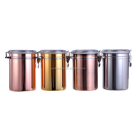 Wholesale food container stainless steel coffee tea canister
