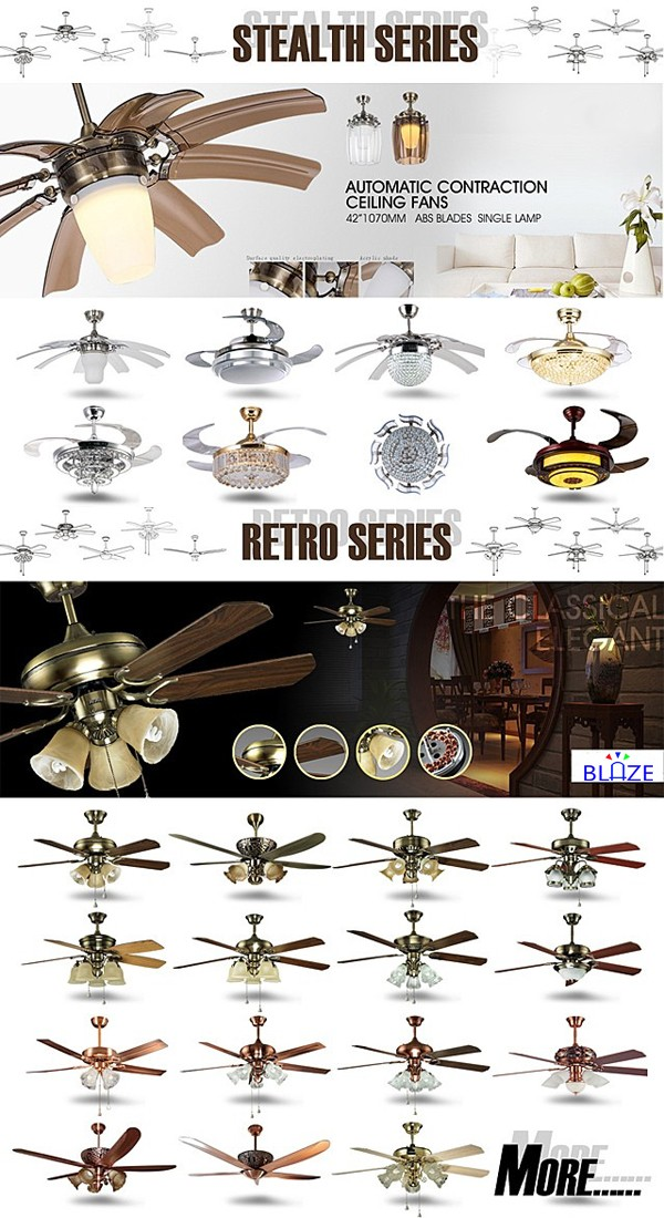 Most Popular Invisible Blade Suspension modern ceiling fan lamp