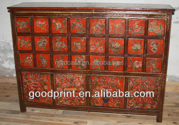 Genial Chinese Antique Shanxi Recycled Solid Wood Distressed Medicine Cabinet