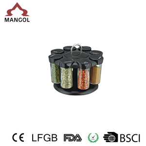 Hot sale spice holder spice jar set with colorful