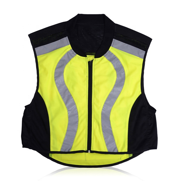 Fluorescent Yellow <strong>Orange</strong> Motorcycle Cycling Reflective Safety <strong>Vest</strong>