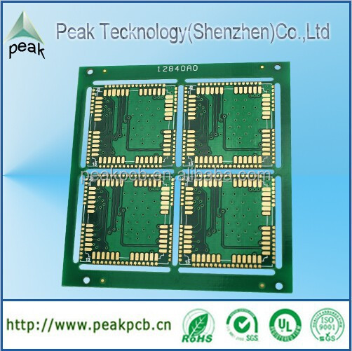 4 Layers Green 1.0MM FR4 Heavy Gold Plate PCB