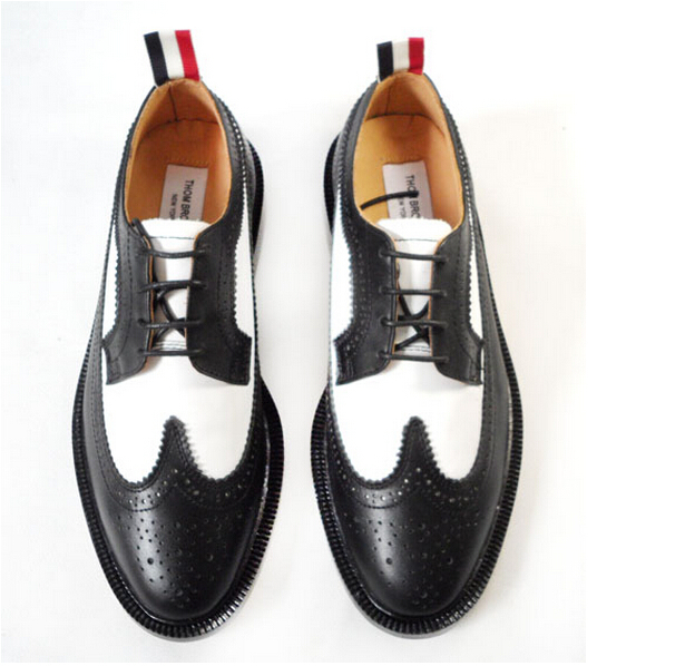 aebb740703b Buy top fashion THOM BROWNE man oxfords cowhide leather original quality THOM  BROWNE man dress shoes brand man business flats shoes in Cheap Price on ...