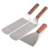 3 Piece Stainless Steel Utensil Set with Spatula and Scraper for Teppanyaki Grills and Griddle