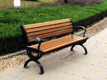 Composite Wood Curved Outdoor Bench Cheap Outdoor Concrete