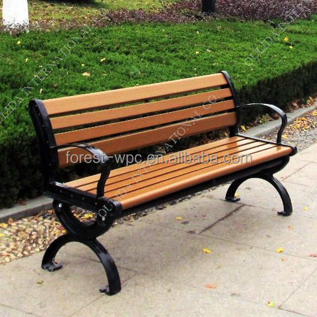 Composite Wood Curved Outdoor Bench Cheap Outdoor Concrete Bench Best Price  Outdoor Wooden Bench