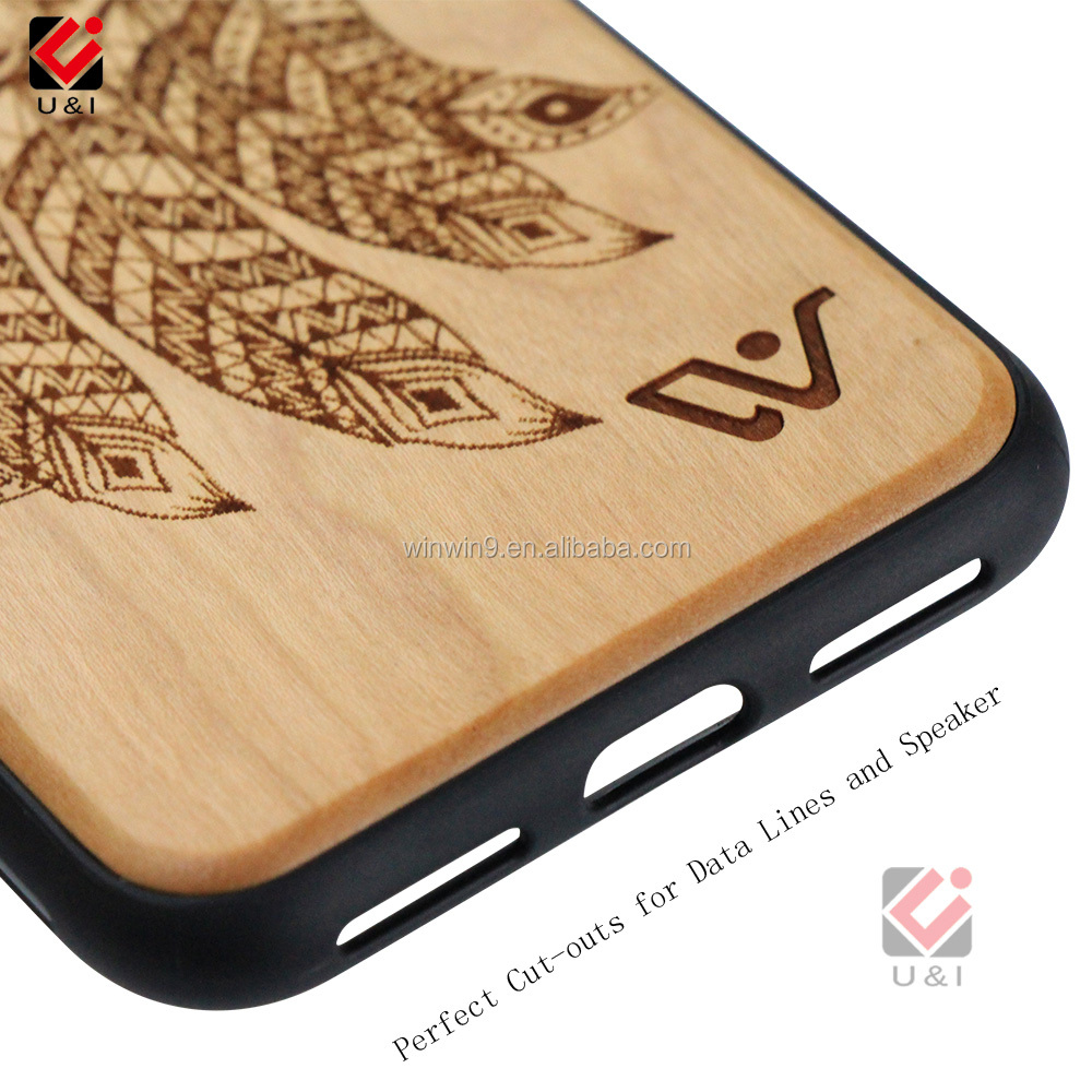 Mobile Phone Case Manufacturers OEM Custom Design Wood Phone Case for iPhone X