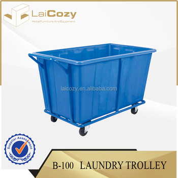 Plastic Laundry Cart With Wheels Hotel