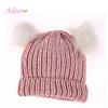 Distributor Winter knitted hat wool custom knit hat for girls