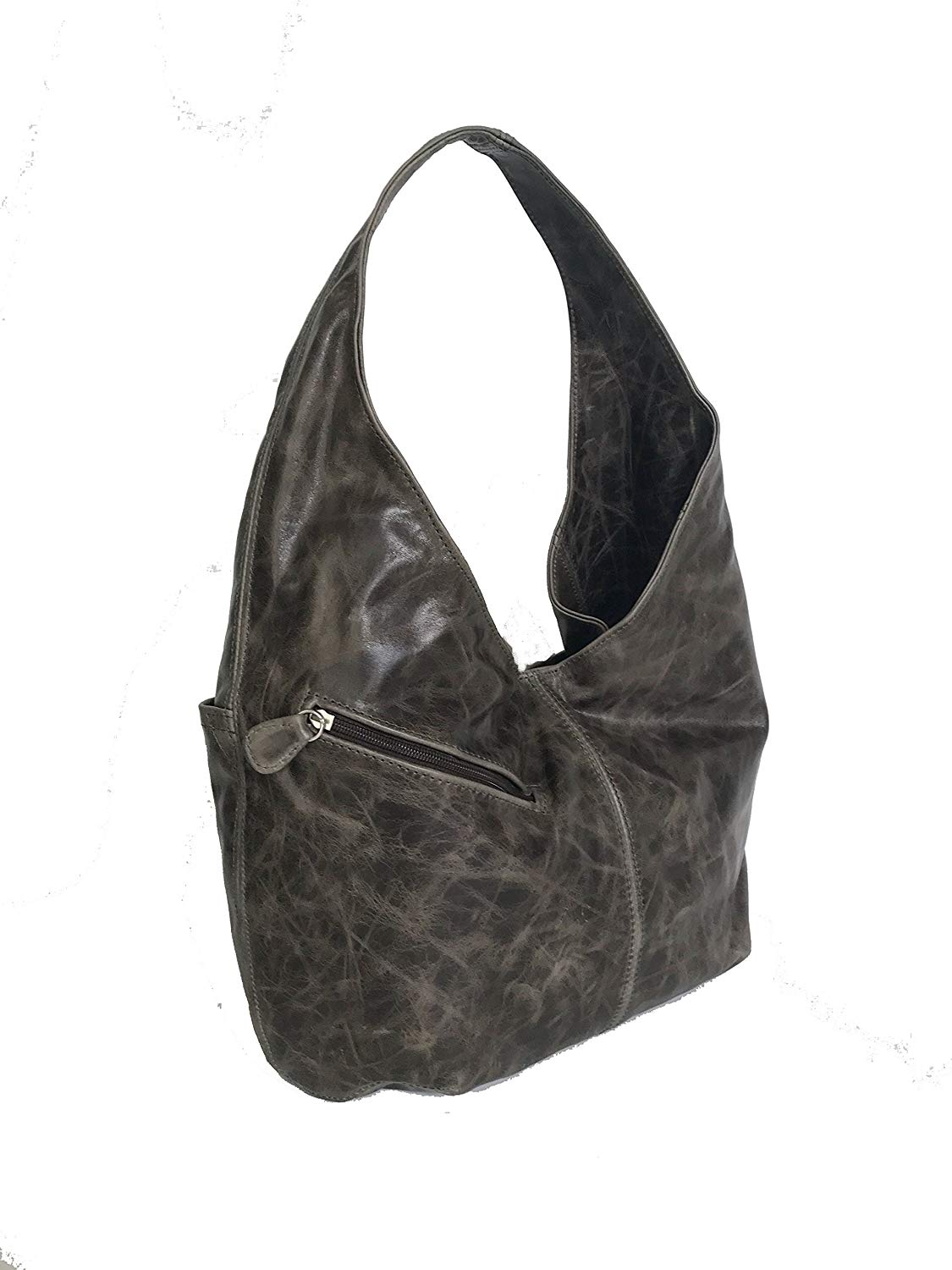 d02fb80e1a Get Quotations · Fgalaze Distressed Leather Hobo Bag